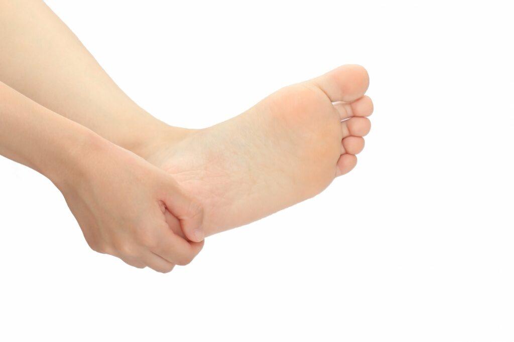 左足の捻挫