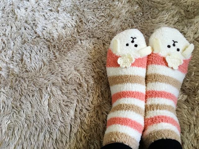 冷え性の女性の足