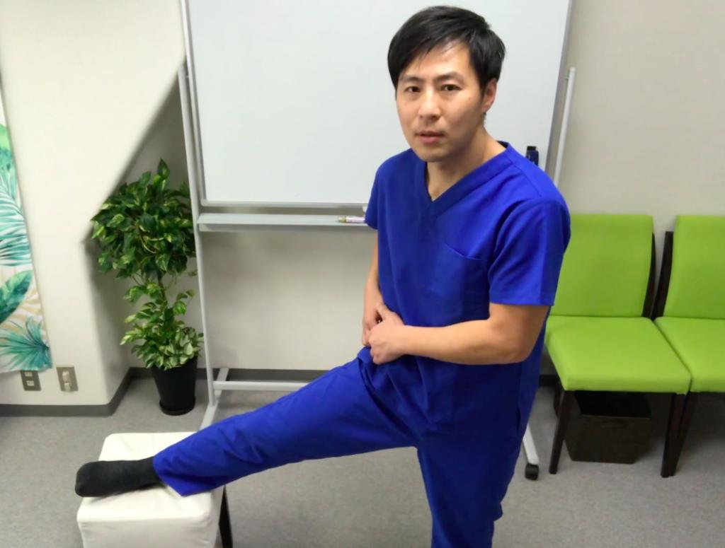 股関節のマッサージ
