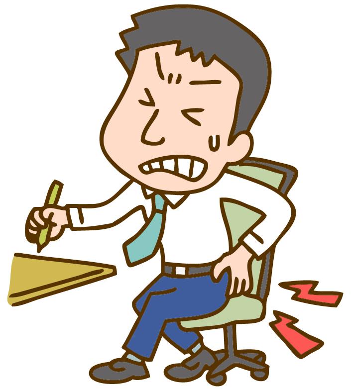 仕事中に腰を痛める男性