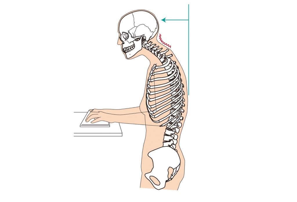 パソコンをしている時の姿勢