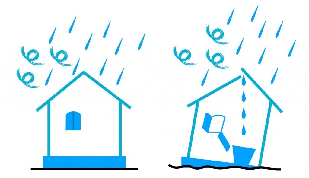 雨漏りする家
