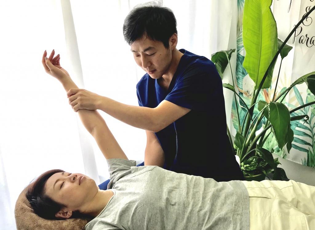 左腕の治療