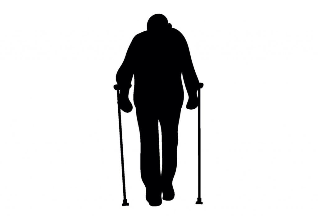歩行困難のシルエット