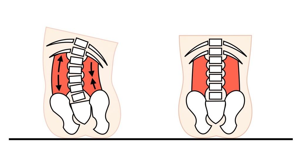座る時の骨盤の傾き
